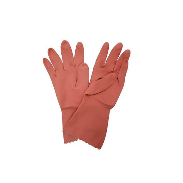 Pink Silverlined Rubber Gloves