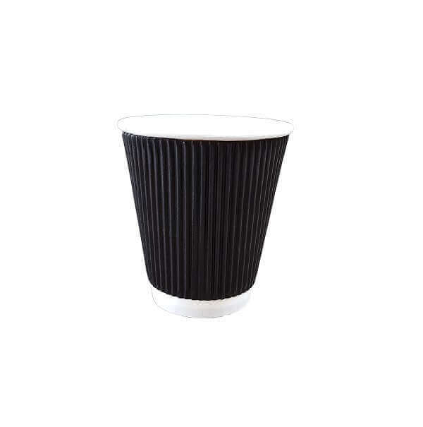 Triple wall ripple black paper cup | BSB Packaging