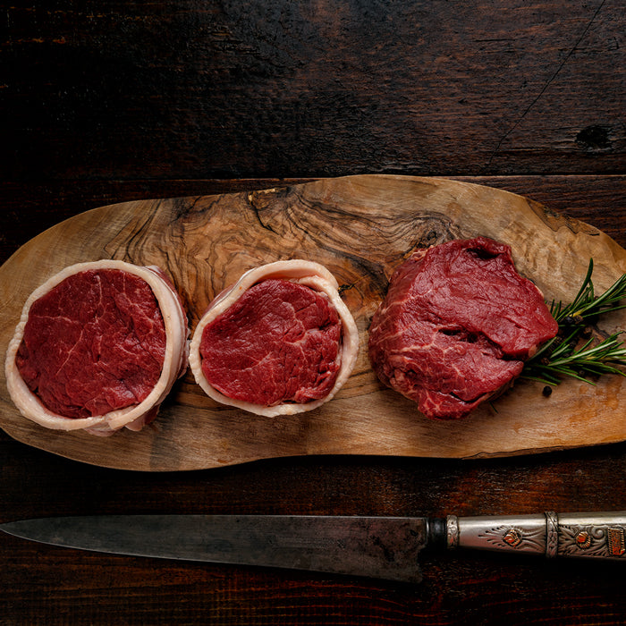 Organic Grass Fed Center Cut Filet Mignon 6 oz $24.99 lbs  / 5 steaks per order
