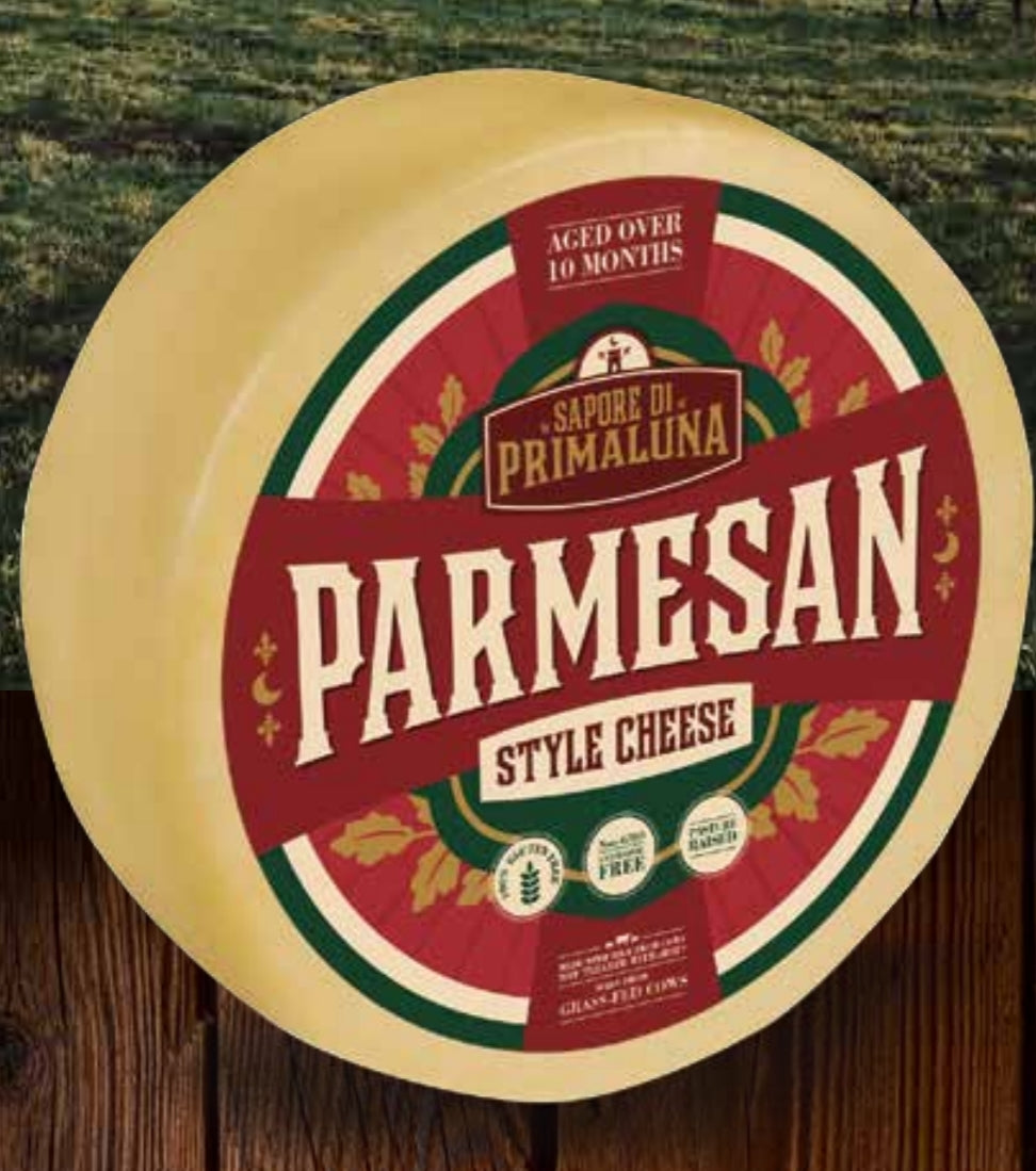 Parmesan Cheese Whole Grass Fed Milk  $6.50 per pound 13 Lbs Wheel