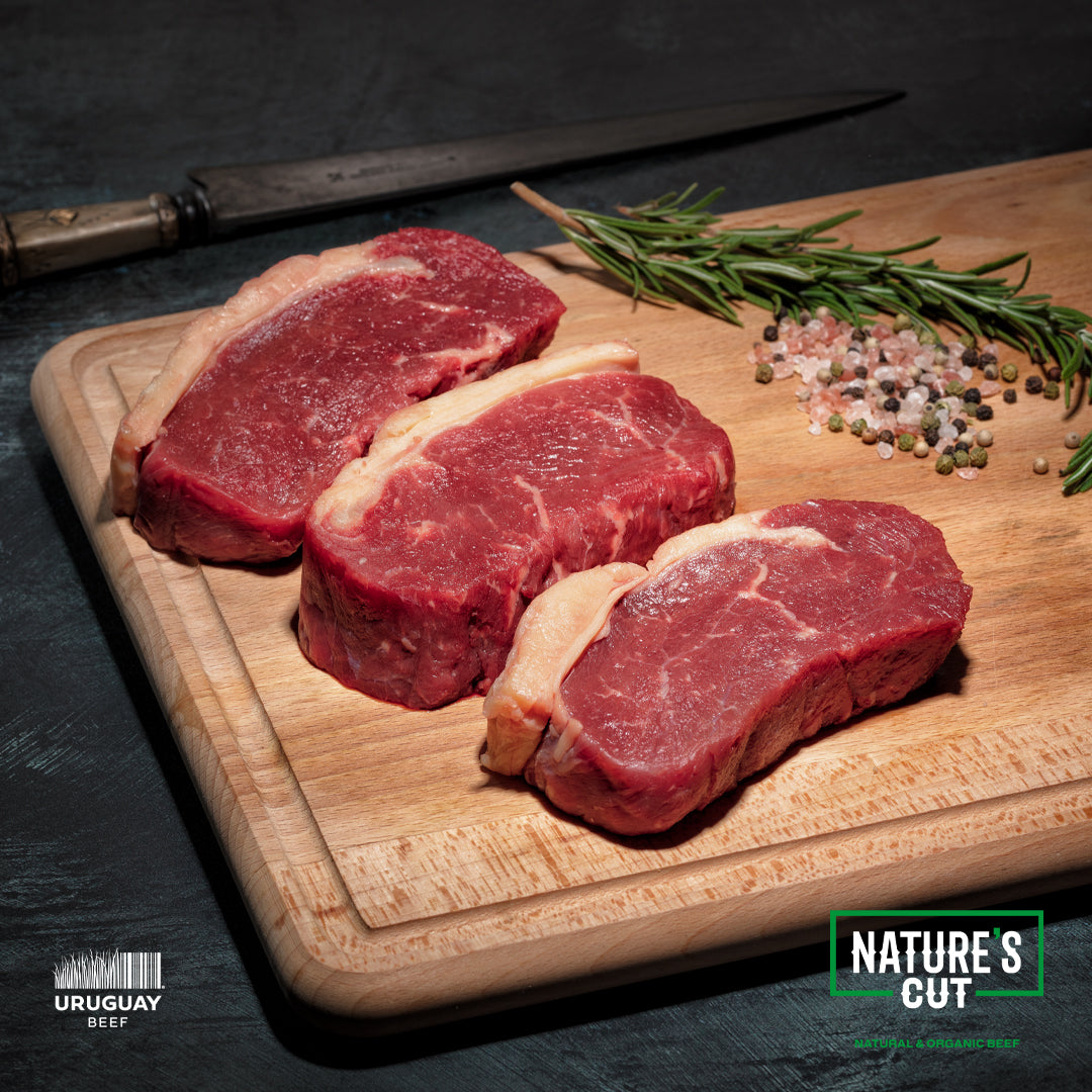 Grass Fed Organic NY Strip (Sirloin) 10 oz cuts, $15.99 per pound 8 steaks per order