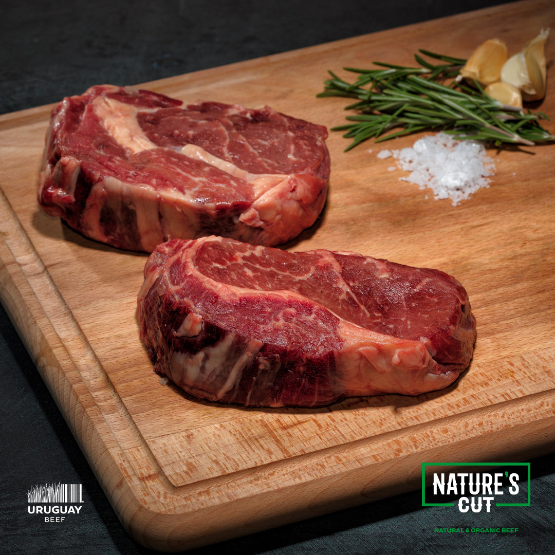 Organic Grass fed Rib Eye Steaks 10 oz. $16.99 per pound - 8 steaks per order