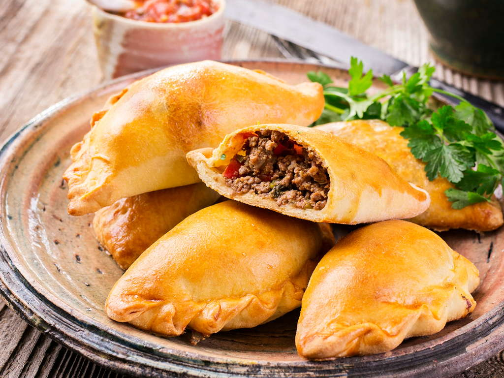 Empanadas (Hot and Spicy Organic Beef)  Family Pack cases of 12 for  $27.00 ( $2.25 ea )