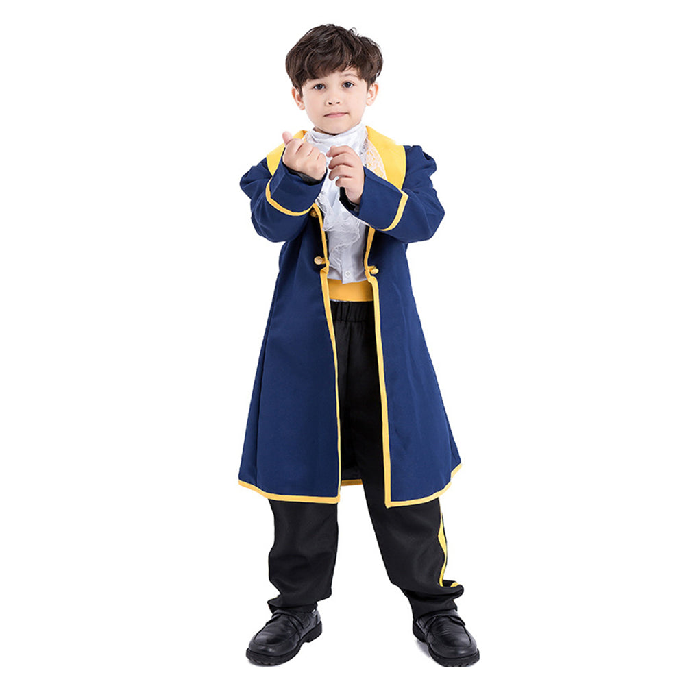 Kids Boys Beauty and the Beast Costume Prince Cosplay Fancy Dress Halloween Carnival Party Outfit - OLAOLA