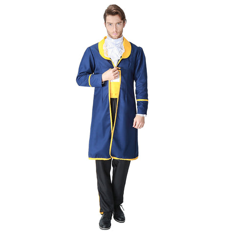 Adult Men Beauty and the Beast Costume Prince Cosplay Fancy Dress Halloween Carnival Party Outfit - OLAOLA