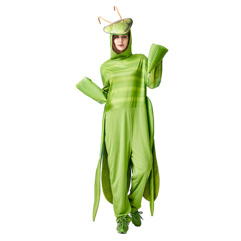 Adult Unisex Halloween Costume Mantis Costume Fantasia Funny Cosplay Animal Insect Christmas Carnival Party Outfit - OLAOLA