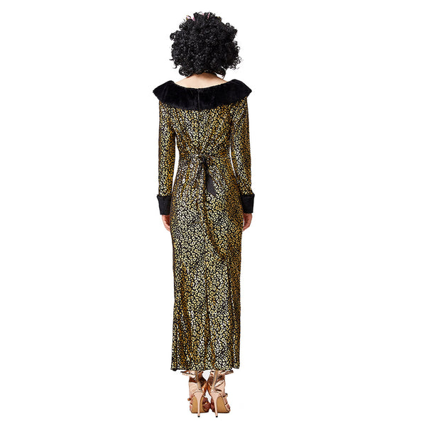 Women Sexy Fishtail Cat Costume Adult Leopard Print Cosplay Dress Up Halloween Masquerade Party Costume - OLAOLA