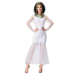 Women Halloween Ancient Egyptian Costume Cosplay Carnival Kigurumi Fancy Party Dress Up Outfit - OLAOLA