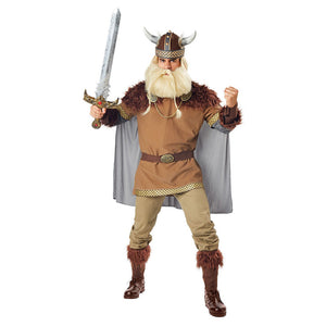 Men Halloween Viking Warrior Costume Cosplay Fantasia Masquerade Costume Carnival Party Clothing - OLAOLA