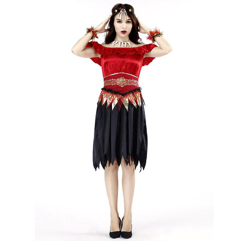 Women Halloween Skeleton Scary Vampire Costume Carnival Party Cosplay Fancy Dress - OLAOLA