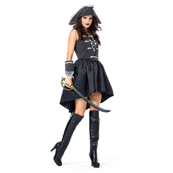 Women Halloween Pirate Costume Carnival Costume Adult Costume Fancy Party Dress Female Pirate Cosplay Costume - OLAOLA