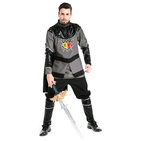 Men Halloween Greek Warrior Assassin Costume Rome Emperor Cosplay Costume Fancy Outfit Whole Set - OLAOLA