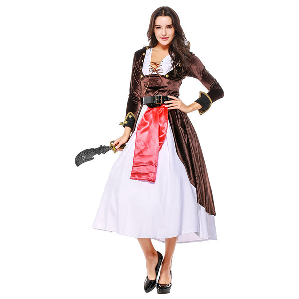 Women Halloween Sexy Caribbean Pirate Costume Carnival Adult Pirate Jack Sparrow Cosplay Female Fancy Dress - OLAOLA