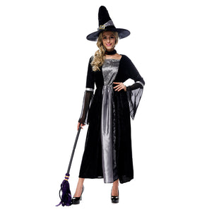 Adult Women Deluxe Sexy Witch Evil Queen Costume Magic Moment Costume Halloween Cosplay Fancy Dress - OLAOLA