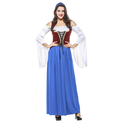 Adult Women Halloween Germany Oktoberfest Party Maid Costume Sexy Bavarian Beer Girl Cosplay Fantasia Dress - OLAOLA