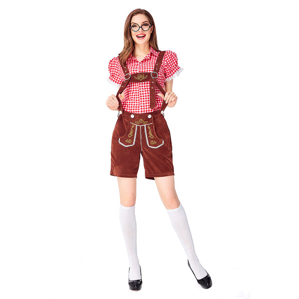 Women Traditional Germany Oktoberfest Clothing Stage Costumes National Costumes Halloween Waitress Costumes - OLAOLA