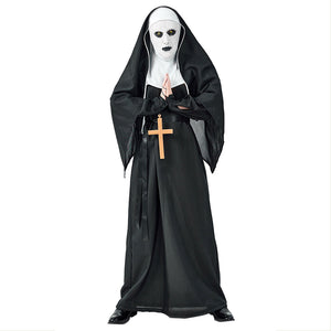 Halloween Costume Horror Monastery Ghost Sister Diablo Monk Sexy Clothes Masked Fascinators for Men - OLAOLA