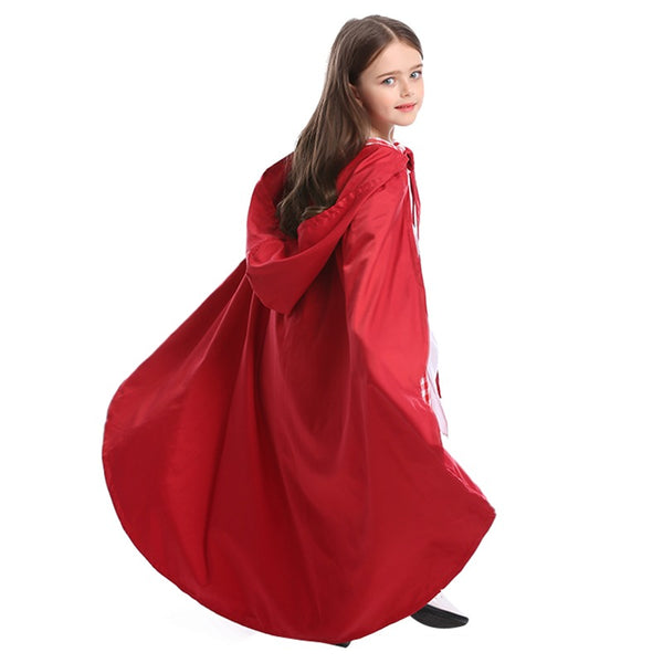Kids Girls Halloween Little Red Riding Hood Costume Children Cosplay Carnival Purim Masquerade Stage Party Dress - OLAOLA