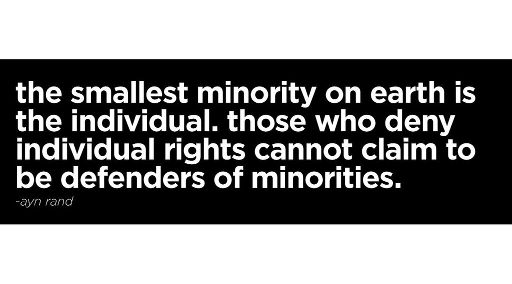 Ayn Rand - Individual Rights Sticker