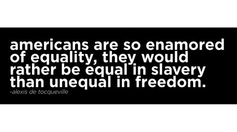 Alexis de Tocqueville - Unequal In Freedom Sticker