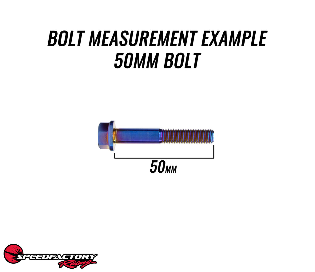 Speedfactory Racing M8x1.25 Titanium Transmission Case Bolts (Single Bolts)