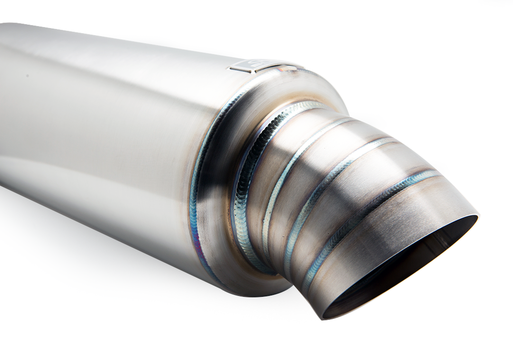Blox Racing T304 Stainless Steel Universal Street Mufflers with Turndown Tip