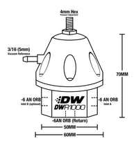 Load image into Gallery viewer, DeatschWerks R1000  Universal Adjustable Fuel Pressure Regulator, Anodized Titanium
