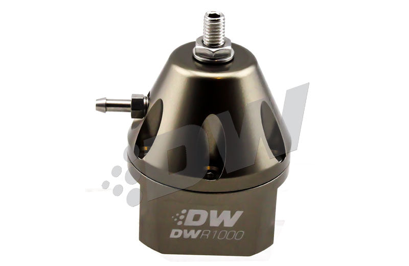 DeatschWerks R1000  Universal Adjustable Fuel Pressure Regulator, Anodized Titanium