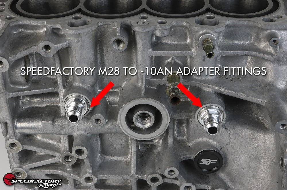 SpeedFactory Racing Billet M28 to -10AN Adapter Fitting