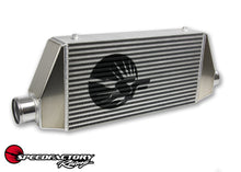 "Load image into Gallery viewer, SpeedFactory HP Side Inlet/Outlet Universal Front Mount Intercooler - 3"" Inlet / 3"" Outlet (850HP-1000HP)"