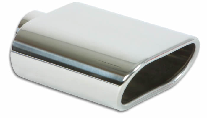 Vibrant Stainless Steel Oval Exhaust Tip