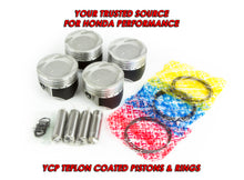 Load image into Gallery viewer, YCP Vitara Pistons with Rings for D15/D16 SOHC Engines Civic