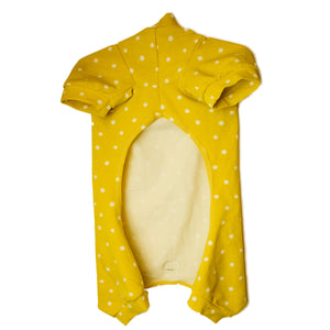 Handmade for Hounds Armadale dog onesie flat bottom view