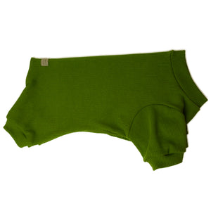 Handmade for Hounds Thomastown dog onesie flat side view