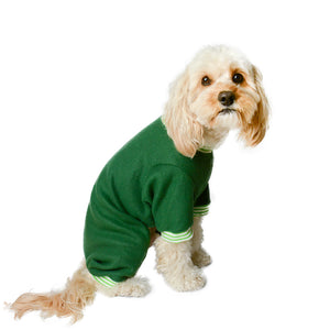 Handmade for Hounds Carnegie dog onesie side view
