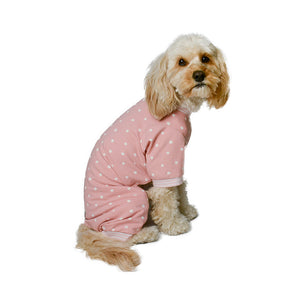 Handmade for Hounds Fairfield dog onesie side view