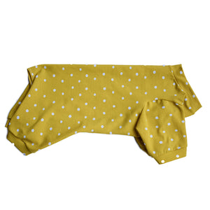 Handmade for Hounds Armadale dog onesie flat side view