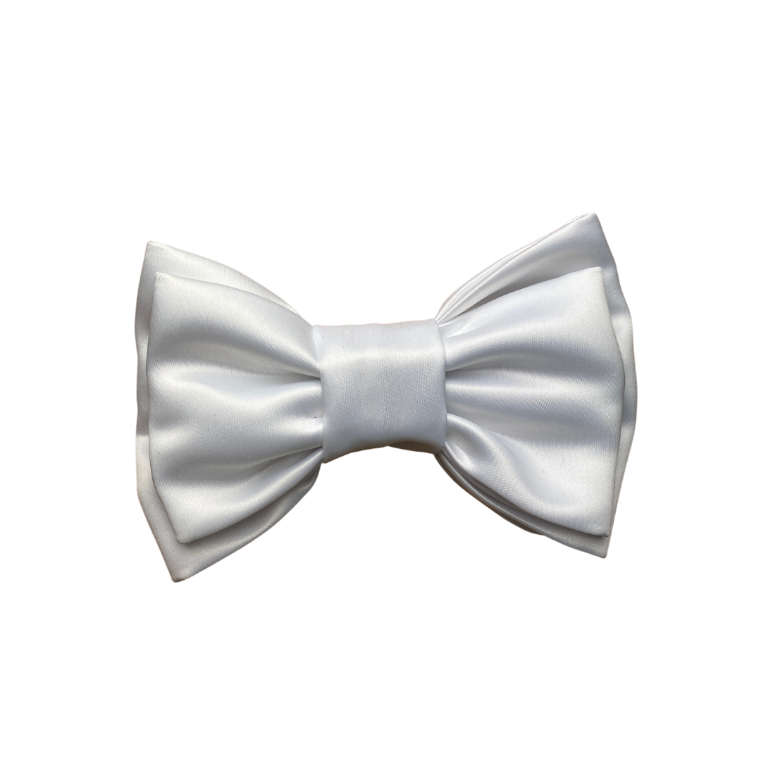 The Fancy Double Bow- White