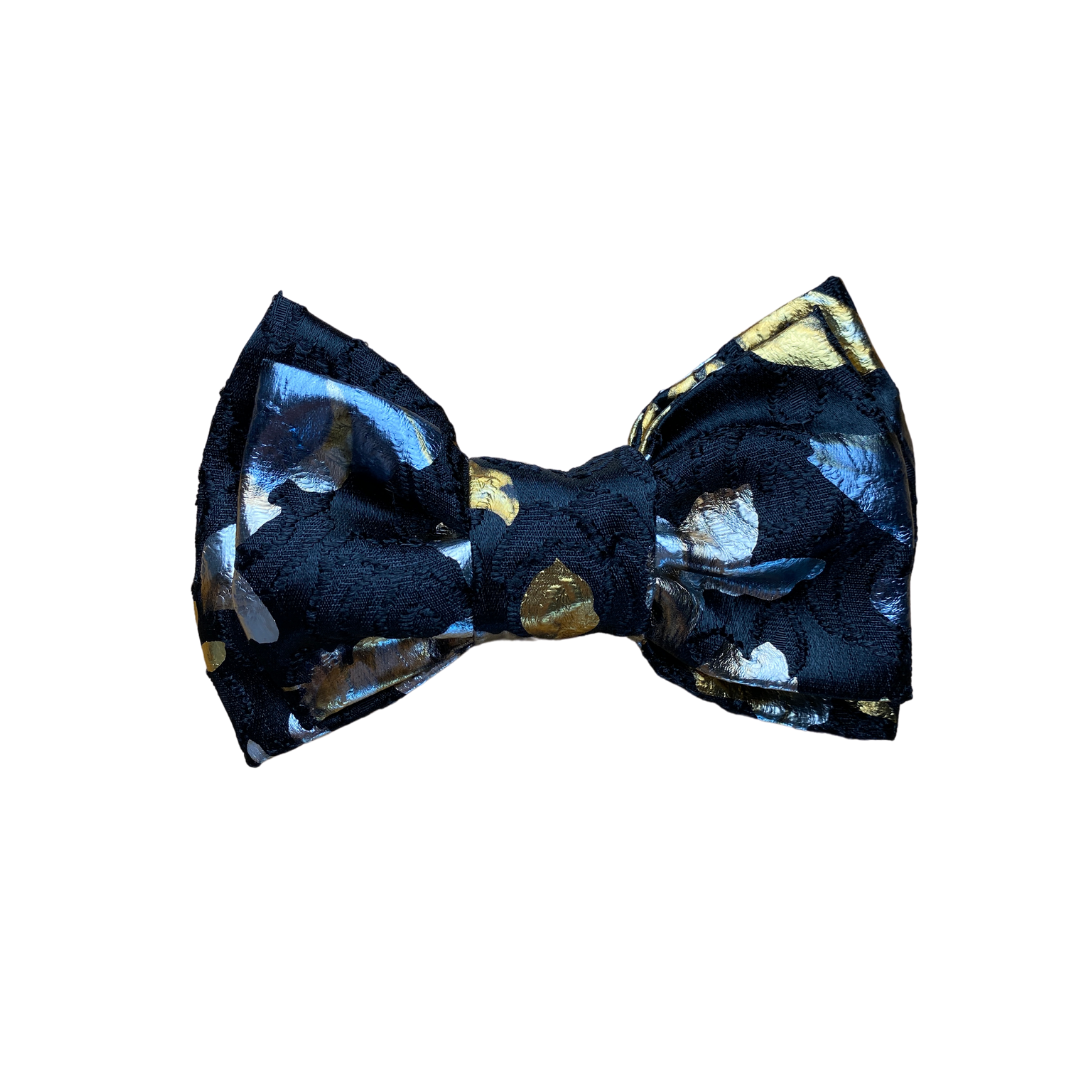 The Fancy Double Bow- Metallic