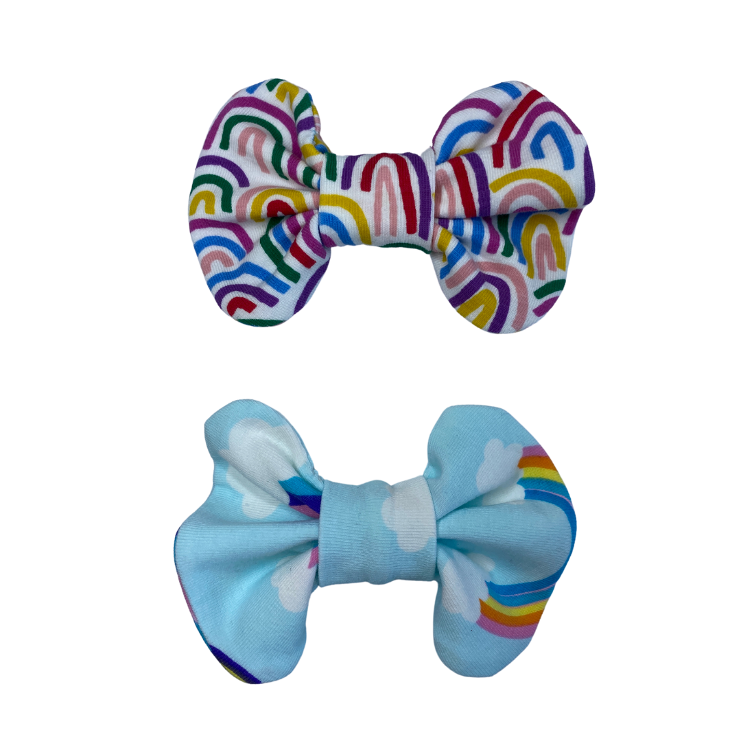 Paris Collar Bow- The Rainbow & The St Kilda (Twin Pack)