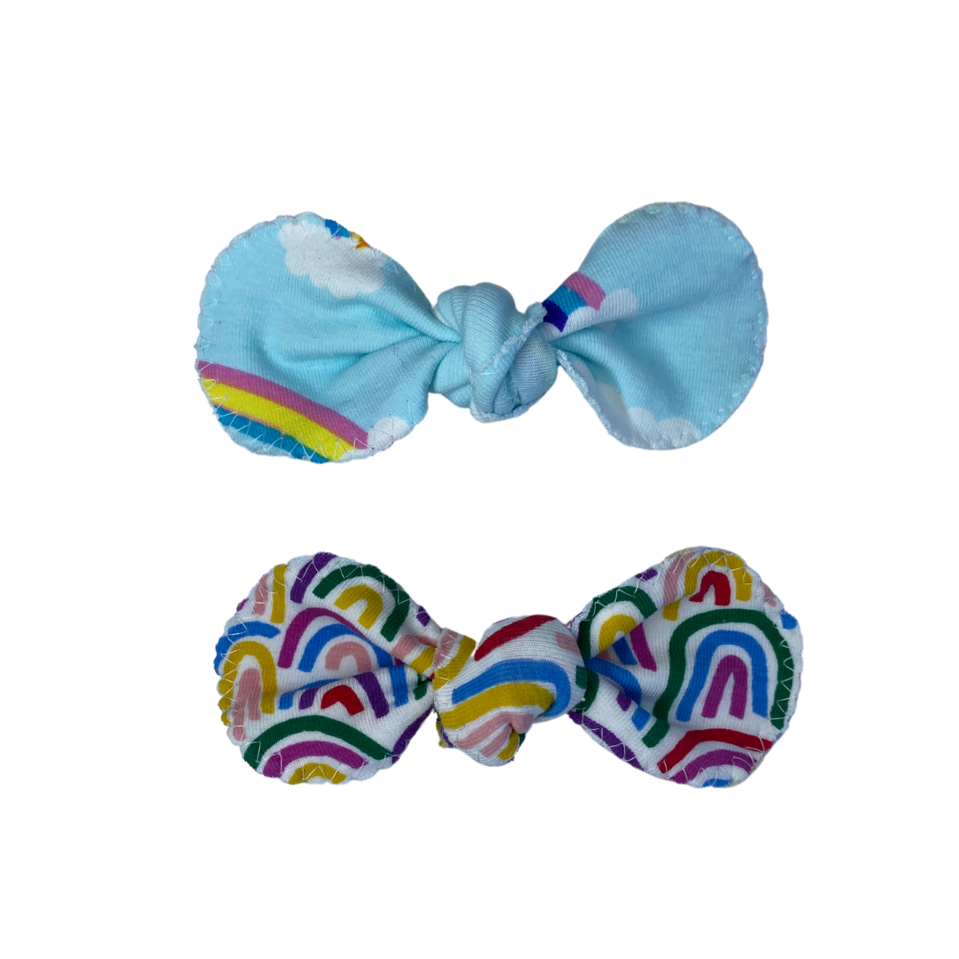 Hair Bow- The Rainbow & St Kilda (Twin Pack)