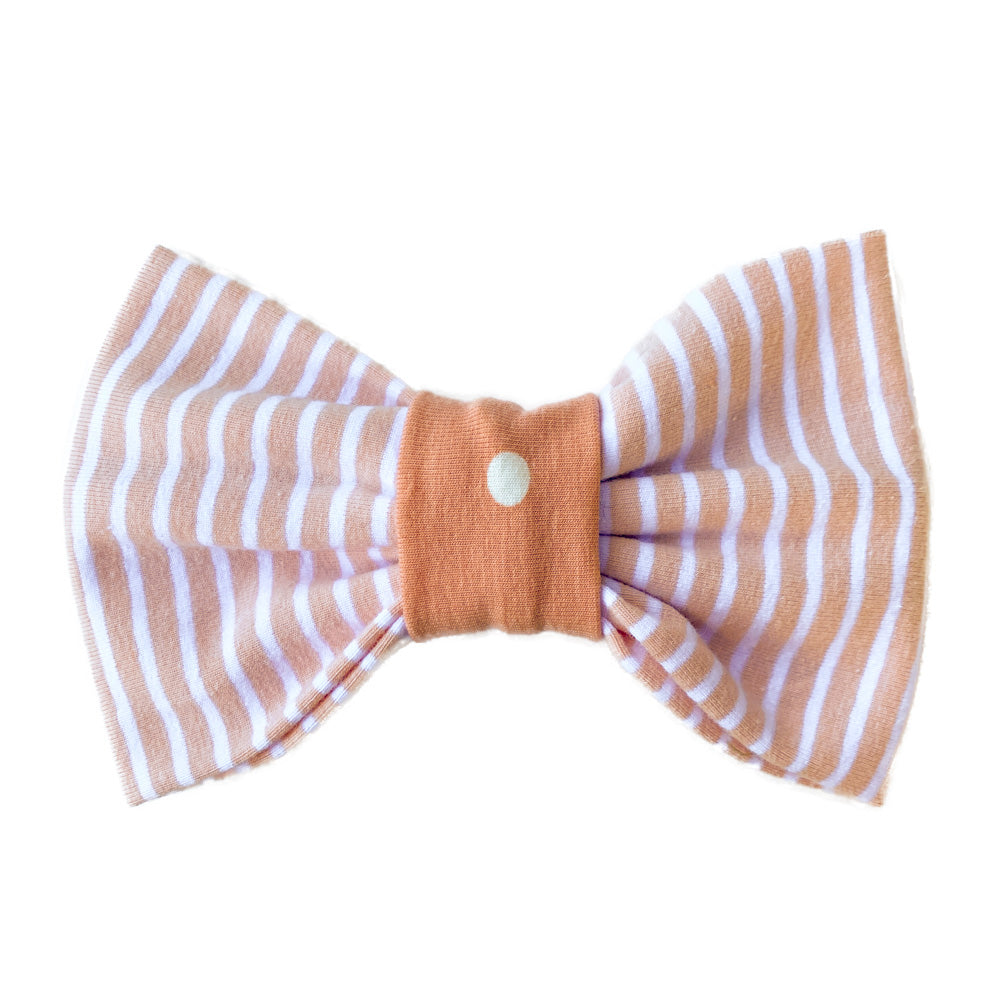 Handmade for Hounds Fairfield dog bow stripe