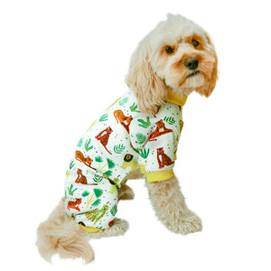 Handmade for Hounds Werribee dog onesie side view