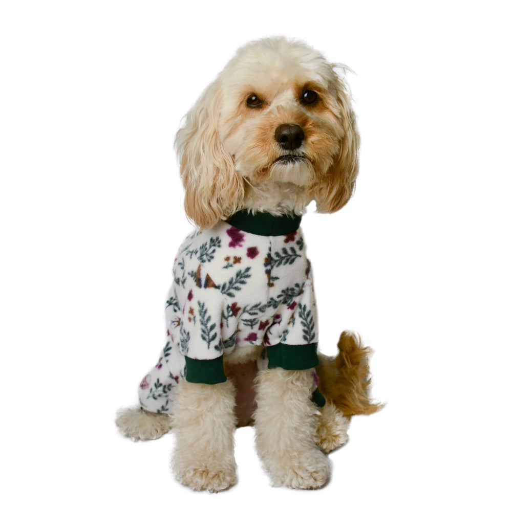 Handmade for Hounds Meadow Heights dog onesie front view