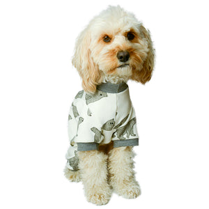 Handmade for Hounds Kings Park dog onesie front view