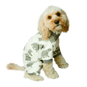 Handmade for Hounds Kings Park dog onesie side view