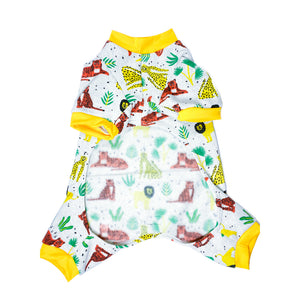 Handmade for Hounds Werribee dog onesie flat bottom view