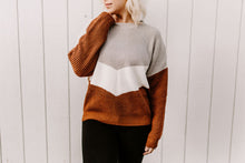 Load image into Gallery viewer, Nora Chevron Colorblock Sweater