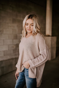 Fawn Relaxed Fit Pullover Sweater