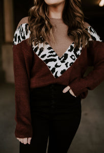 Double Vision Animal Print Sweater